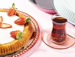 12 parça kafes desenli çay bardağı takımı - Thumbnail