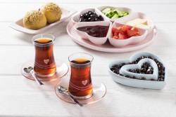 Tantitoni - 12 parça kalp desenli pembe çay bardağı takımı (1)