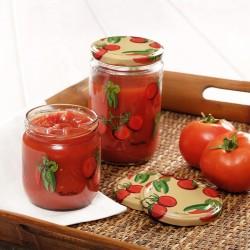 Tantitoni - 4lü domates desenli cam kavanoz seti 600ml (1)
