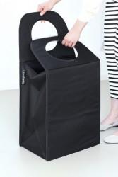 BRABANTIA - black köşeli çamaşır sepeti 55l
