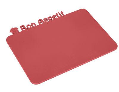 bon appetıt kırmızı atıştırmalık tahtası