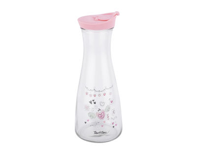 FLIRTY HEART DESENLİ CAM ŞİŞE 900ML