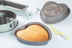 TANTİTONİ - kalp desenli kalp şekilli kek kalıbı 25x25x4.4cm (1)