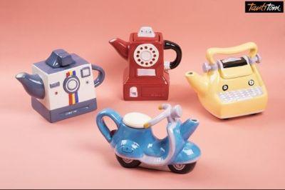 KIRMIZI TELEFON ŞEKLİNDE SERAMİK DEMLİK 500ML