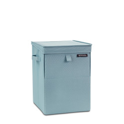 pastel mınt köşeli çamaşır sepeti 35l - Thumbnail