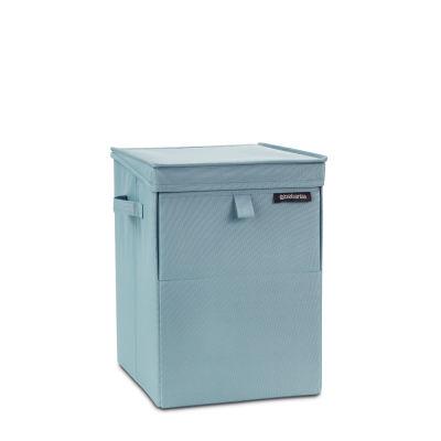 pastel mınt köşeli çamaşır sepeti 35l