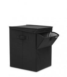 BRABANTIA - black köşeli çamaşır sepeti 35l