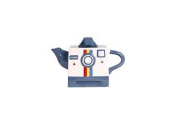 MAVİ FOTOĞRAF MAKİNESİ ŞEKLİNDE SERAMİK DEMLİK 650ML - Thumbnail