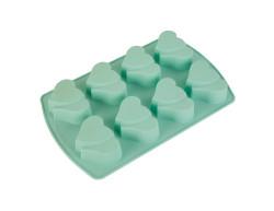 Tantitoni - mint renkli çift kalp şekilli 8li silikon kek kalıbı (1)