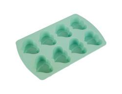 TANTİTONİ - mint renkli çift kalp şekilli 8li silikon kek kalıbı (1)