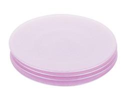 Tantitoni - mor 4 parça cam pasta tabağı seti 21cm (1)