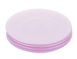 TANTİTONİ - mor 4 parça cam pasta tabağı seti 21cm (1)